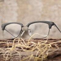 레트로 나무 광학 안경 프레임 클리어 렌즈 나무 안경 프레임 여성 남성 처방 안경 컴퓨터 안경 읽기