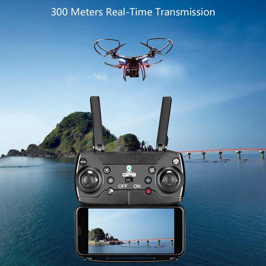 GW168 GPS RC Drone with 1080P Wide-Angle Camera Helicopter WiFi FPV Altitude Hold Long Time Flying 2/3 Battery