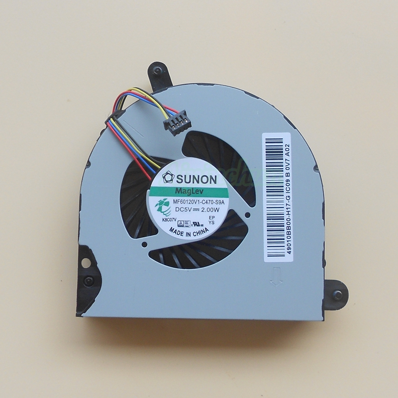 New Genuine For HP Probook 6560b 6565b 6570b Elitebook 8560p 8560w 8570p Cooling Fan MF60120V1-C470-S9A NFB65B05H -002 49010B900