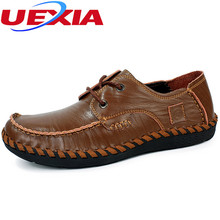 New Comfortable Handmade Casual Men Shoes Quality Leather Shoes Men Black Flats Driving Soft Leather Loafers Hot Sale Moccasins
