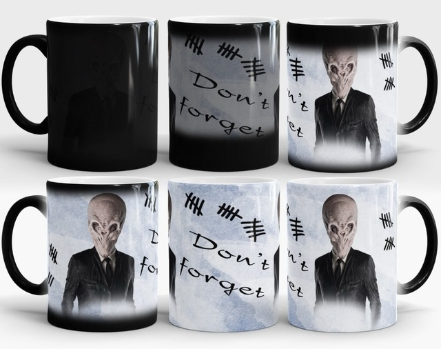 doctor who mugs dr who coffee mugs Heat Sensitive morph mug transforming cup cold hot heat changing color magic mug tea cups