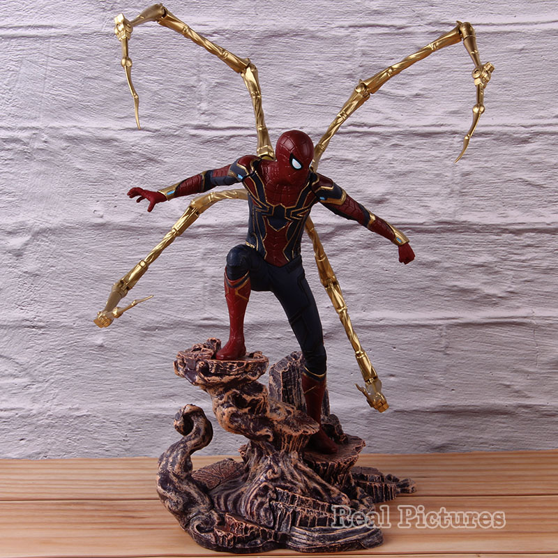 Exquisite Spider Man Action Figure Statue Model Toys Arts Doll Marvel Spiderman