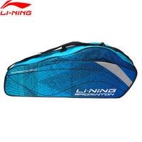 (Clearance Sale)Li Ning Badminton Professional Rackets Bag 3 Rackets Load Polyester LiNing Racquet Sport Bags ABJN022 BBF255