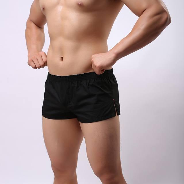 Drawstring Boxer Men Solid Color Casual Loose Elastic Fashion Quick-Dry Boxershorts Mens Underwear Boxers Homme Cuecas M-XXL