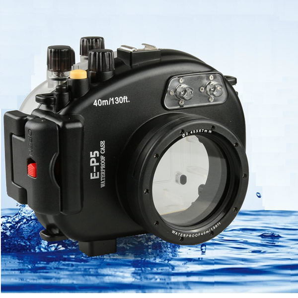 Meikon  40M 130ft  Waterproof Underwater Housing Camera Housing Diving  Case for Olympus E-P5 EP5
