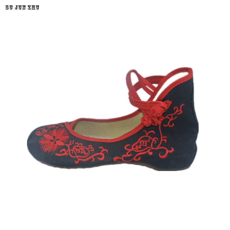 Women Chinese Shoes, Old Beijing  Flats With Casual Shoes, Chinese Style Embroidered shoes woman 2017 Clouds Home Driving Shoes new chinese embroidery flats elegant woman pointed toe rhinestone old beijing canvas embroidered dance single shoes size 34 41