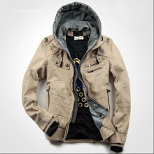 Hot Sale New 2015 Mens Autumn Winter Fashion Hoodies Slim Jacket Outwear Tuxedo Cotton Male Casual Coat plus velvet A672