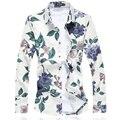 2017 Homens Florais Camisa M-5XL 6XL 7XL C6150 Camisas Dos Homens Camisas Sociais Masculina Camisas Hombre Vestir
