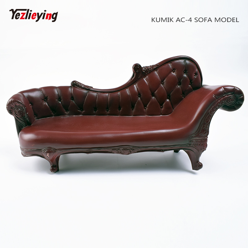 """1//6th Double Sofa Chair Model Lounge Furniture Props for 12/"""" Action Figure Doll"""