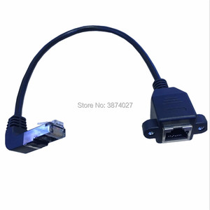 Image 4 - tracking number 90 degrees Up RJ45 Male to Female Screw Panel Mount Ethernet LAN Network Extension Cable
