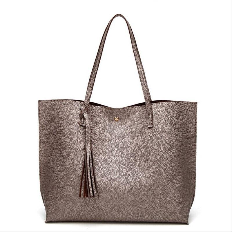 moda borla bolsa de ombro Color : Pink Gray Blue Black Women Bags Bolsa