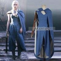 2016 Manles Game Of Thrones Targaryen Daenerys Cosplay Costume The Unburnt Mother Of Dragons Costume Halloween