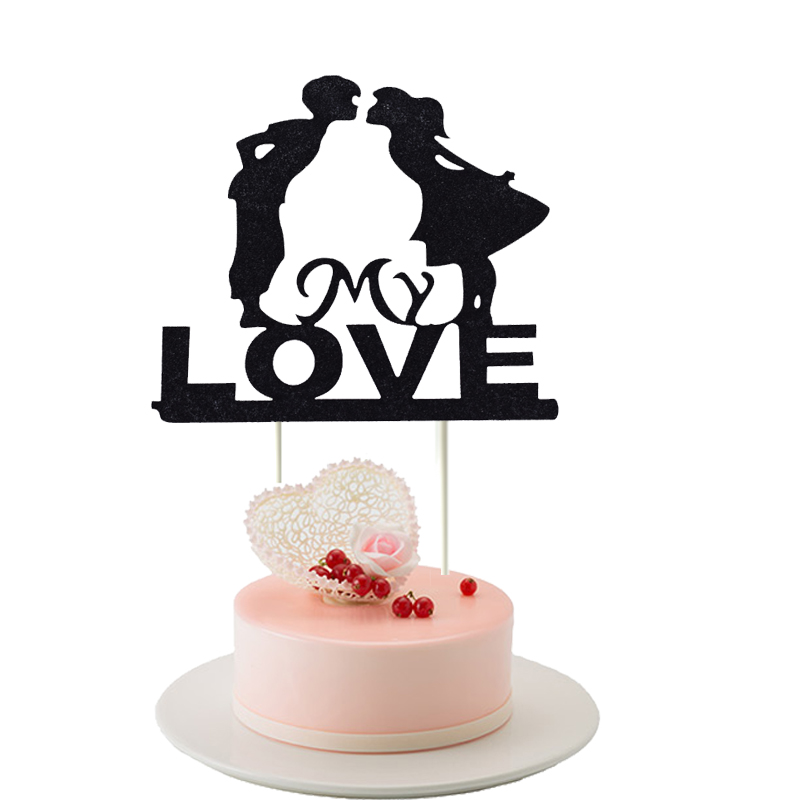 Detail Feedback Questions About My Love Cupcake Cake Topper Heart