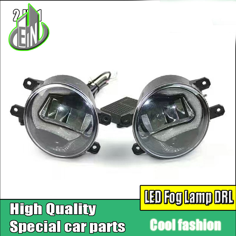 Car styling LED DRL Daytime Running Light Fog Lamp For Toyota Highlander 2014-2016 LED Fog Light Day Light DRL Auto Accessories