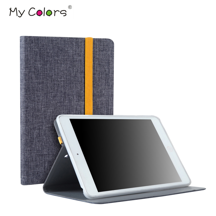 For iPad mini 2 3 A1432 A1454 Cloth Leather Case Cover Slim 7.9 Protective Stand for App ...