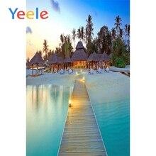 Yeele Wooden Bridge Lakes Scenic Photography Backgrounds Wedding pavilion Customized Photographic Backdrops For Photo Studio