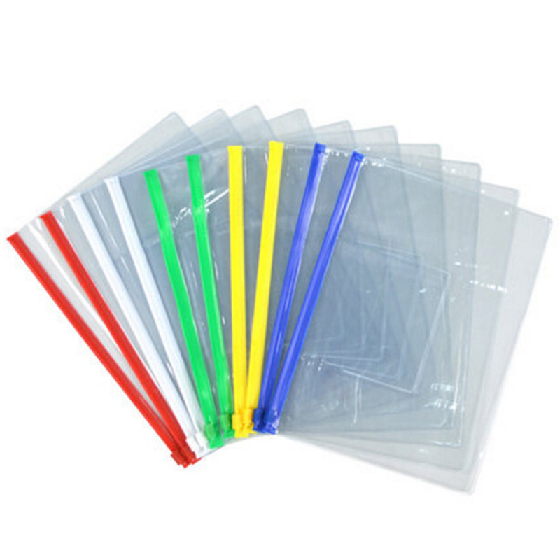 File Bag Stationery 20pcs Clear Plastic Bag Translucent Folder Student Kids Stationery  A4/A5/A6 Size Document Bag File Folder