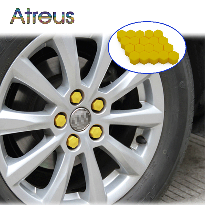 Atreus 20Pcs Silicone Car Wheel Hub Screw Cover For Mini Cooper Kia Ceed Subaru Volvo Audi A3 Seat Leon Honda Civic Accessories