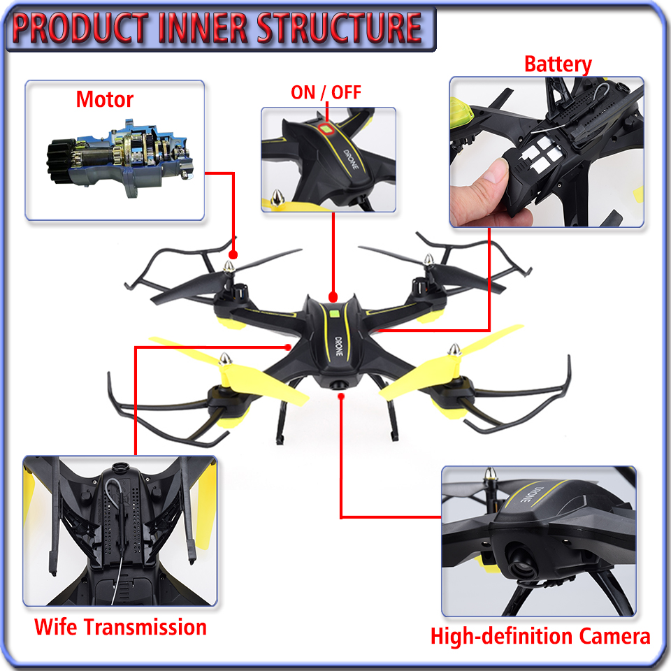 FPV RC Selfie Drone RTF Remote Control Quadcopter with HD wifi Camera Phone/ Gravity Sensing Controlled VS xs809w xs809hw Dron