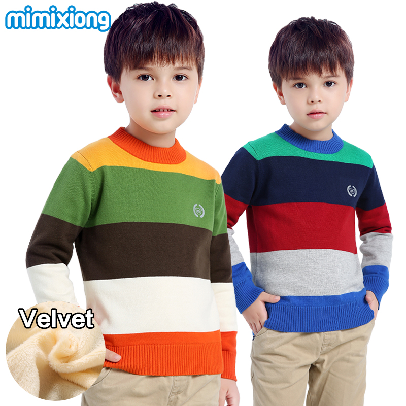 Winter Thermal Toddler Boys Knit Sweater 2018 Autumn Children Knitting Pattern Pullovers Fashion Stripe Kid Knitwear Long Sleeve fashion easy matched stripe pattern shirt