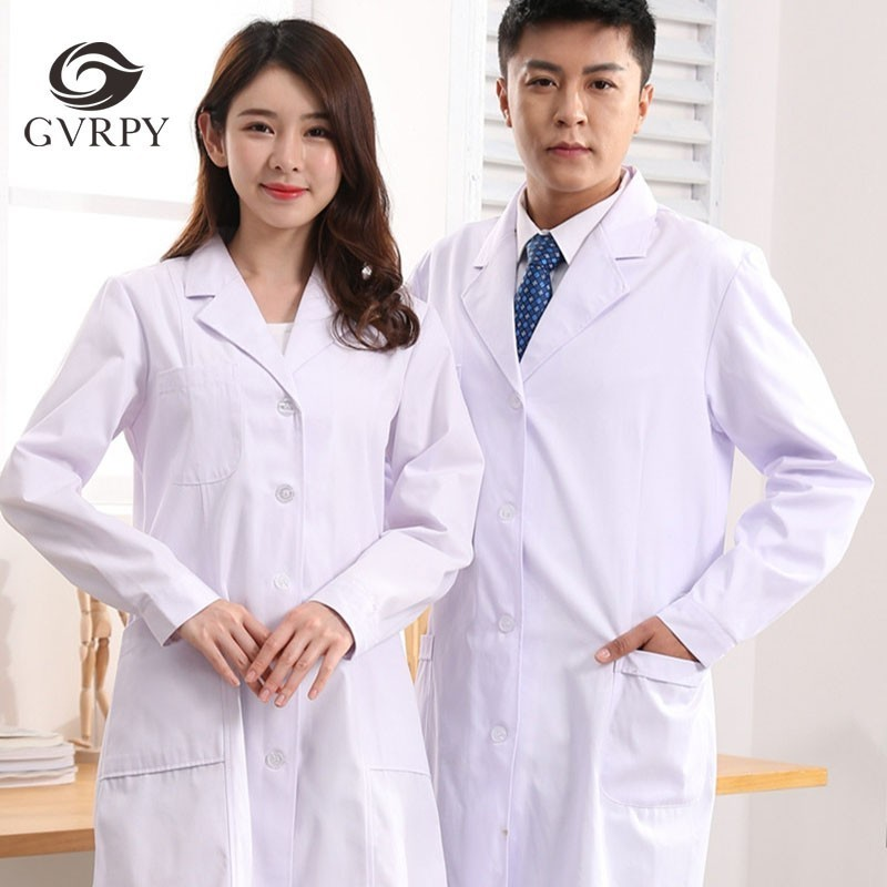 Lab Coats Long Sleeve Summer Unisex Medical Uniforms Hospital Beauty Salon Dental Clinic Pharmacy Doctor Nurse Work Clothes