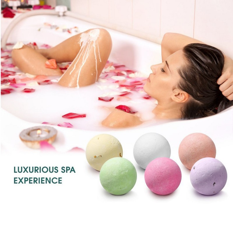 Bath Glorious 6 Pcs Organic Bath Bombs Bubble Bomb Mould Aluminum Ball Shape Diy Bathing Tool Accessories Creative Mold