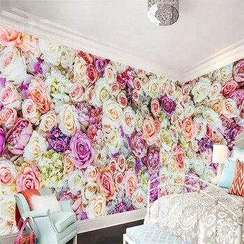 3d murals full house custom flower sea rose background wall decoration painting wallpaper mural photo