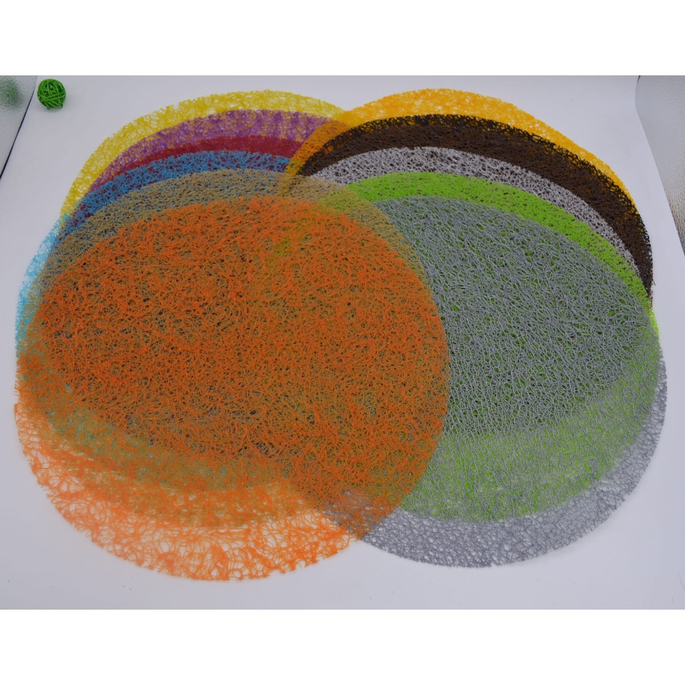 Hot Selling Western pad non-slip plastic mat insulation pad placemat Environmentally friendly EVA Heat-insulated Round 6z-zb007