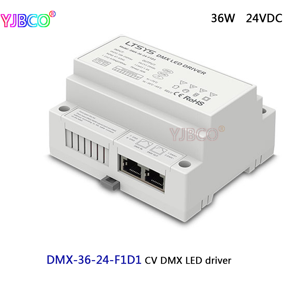 LTECH led dimming intelligent driver;DMX-36-24-F1D1;AC100-240V input 24V/1.5A/36W DMX512/RDM output CV DMX LED driver martin roth top stocks 2016