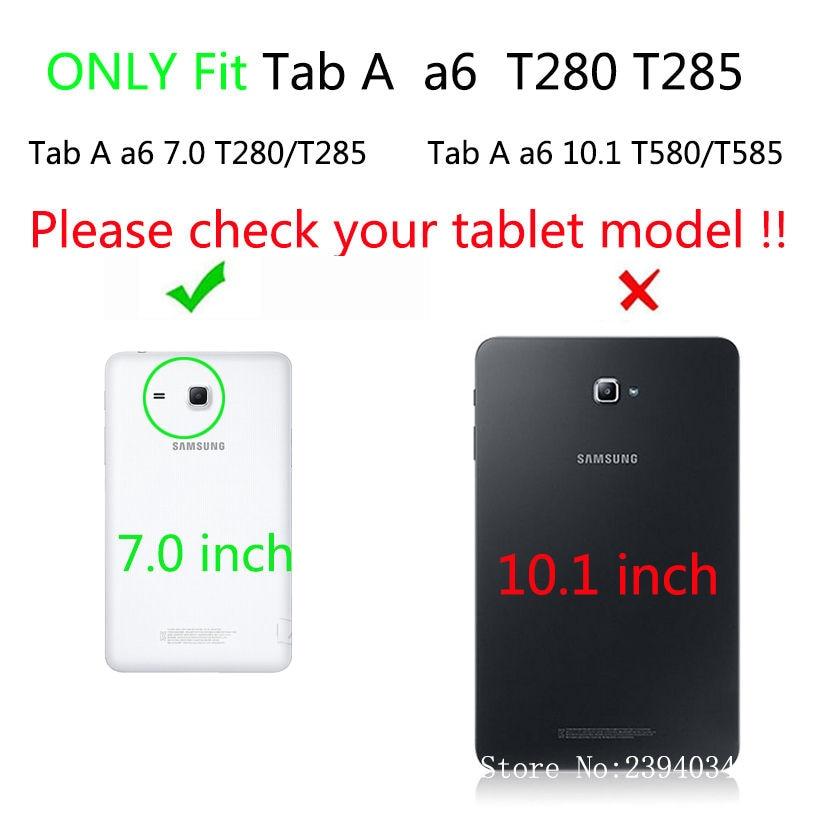 2016 Tab a6 7.0 etui za Samsung Galaxy Tab A 7.0 T280 T285 SM-T280 - Dodatki za tablične računalnike - Fotografija 2