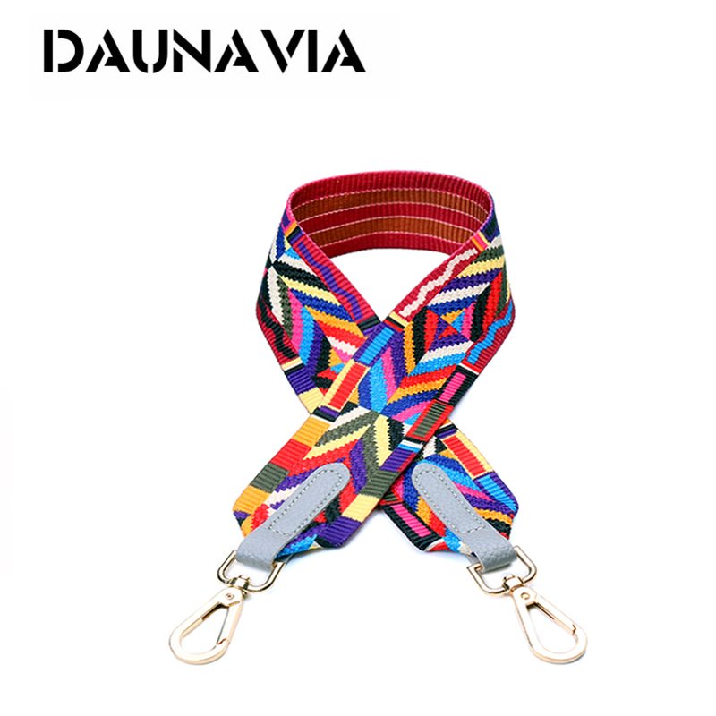 DAUNAVIA Bag Accessory Handles For Handbags Colorful Strap Rivets Handbag Women Crossbody Messenger Bag Strap Lengthen 137cm