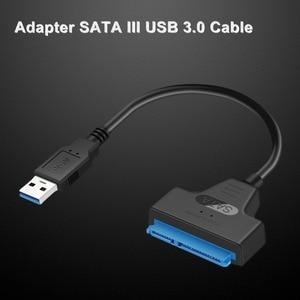 Image 4 - USB 3.0 SATA3 III ケーブルハードドライブアダプタ 2.5 インチ SSD & HDD サポート 6 5gbps のサポートまで UASP 20cm インストールコンピュータ