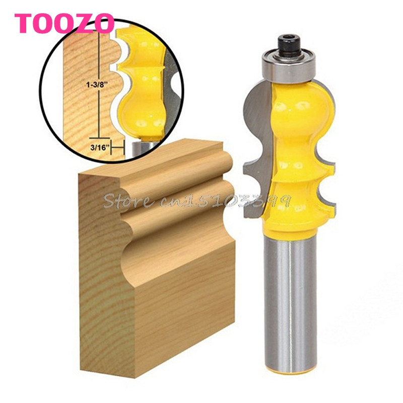 New 1/2'' Shank Shaker Rail Stile Router Bit Woodworking Carpenter Chisel Cutter #G205M# Best Quality high grade carbide alloy 1 2 shank 2 1 4 dia bottom cleaning router bit woodworking milling cutter for mdf wood 55mm mayitr