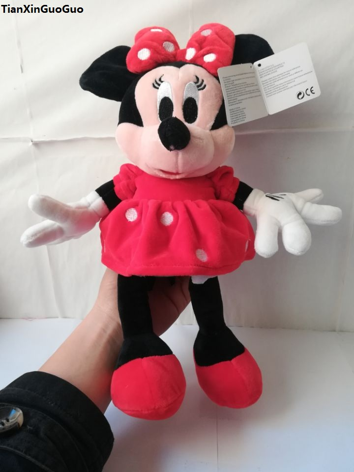 movie&TV cute red skirt minnie plush toy about 35cm soft doll birthday gift w1874