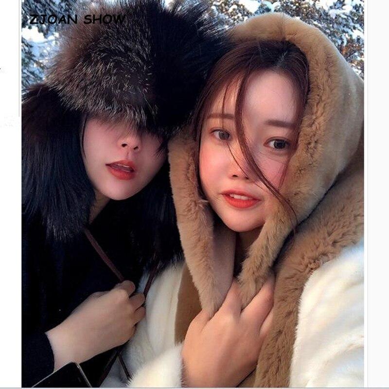 2018 Frauen Winter Mode Shaggy Hairy Faux Rex Kaninchen Pelz Schal Hüte Kappe Unsix Warme Faux Pelz Schal Kappe Neue Cappelli Bonnets MöChten Sie Einheimische Chinesische Produkte Kaufen?