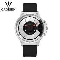 C9059 CADISEN Sport Quarzuhr Wasserdicht Herren Uhren Persönlichkeit Top Marke Luxus Silikon Kreative Uhr relogio masculino Quarz-Uhren Uhren -