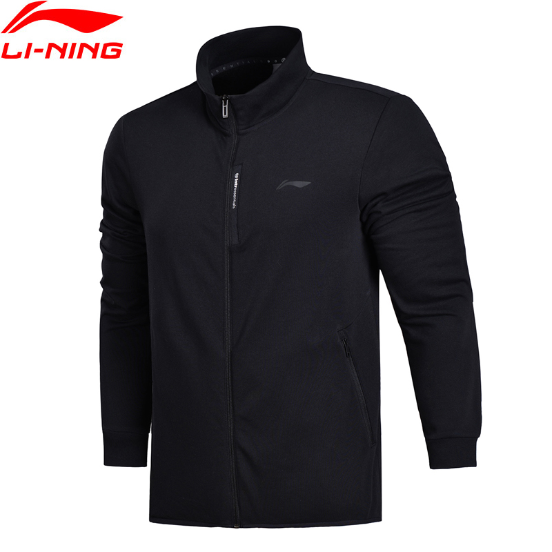 Li-Ning Men FZ Knit Top Training Sweater Slim Fit Comfort Fitness Jackets LiNing Double Fleece Sports Sweaters AWDN041 MWJ2521 gas топ без рукавов