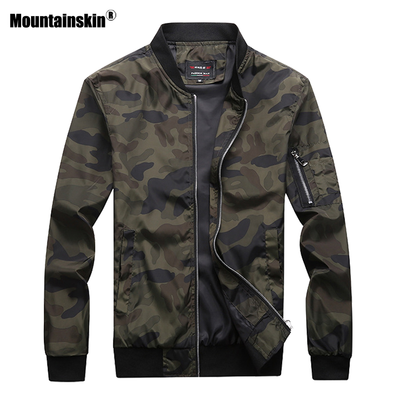 Mountainskin 2020 New Men's Camouflage Jackets Male Coats Camo Bomber Jacket Mens Brand Clothing Outwear Plus Size M-7XL SA527