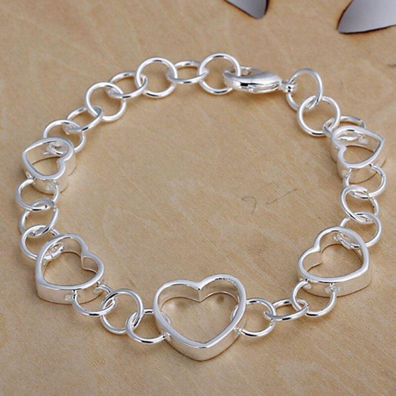 2016 Hot Silver Color Jewelry bracelet silver plated wristlet vintage accessories Hollow Bracelet UEDIBTUV BIELTPZOI