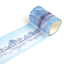 6cm 7m Remnant Snow On The Broken Bridge In Winter Decorative Washi Adhesive Tape DIY Scrapbooking