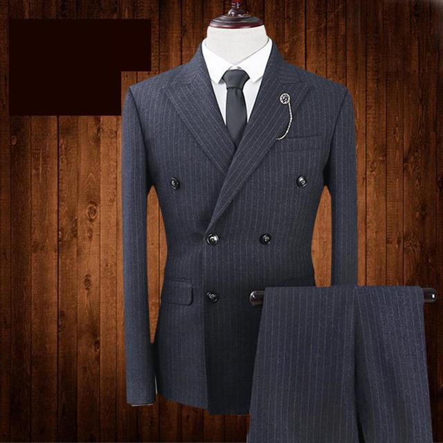 Aliexpress.com : Buy New Black Suit Men Casual Double Buckle ...