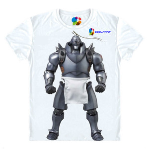 Футболка Coolprint в стиле аниме «Стальной Алхимик», футболка с коротким рукавом в мультистиле для косплея