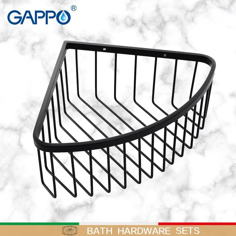 GAPPO Bathroom Shelves wall mounted accessories shower basket bathroom holder storage single shower baskets