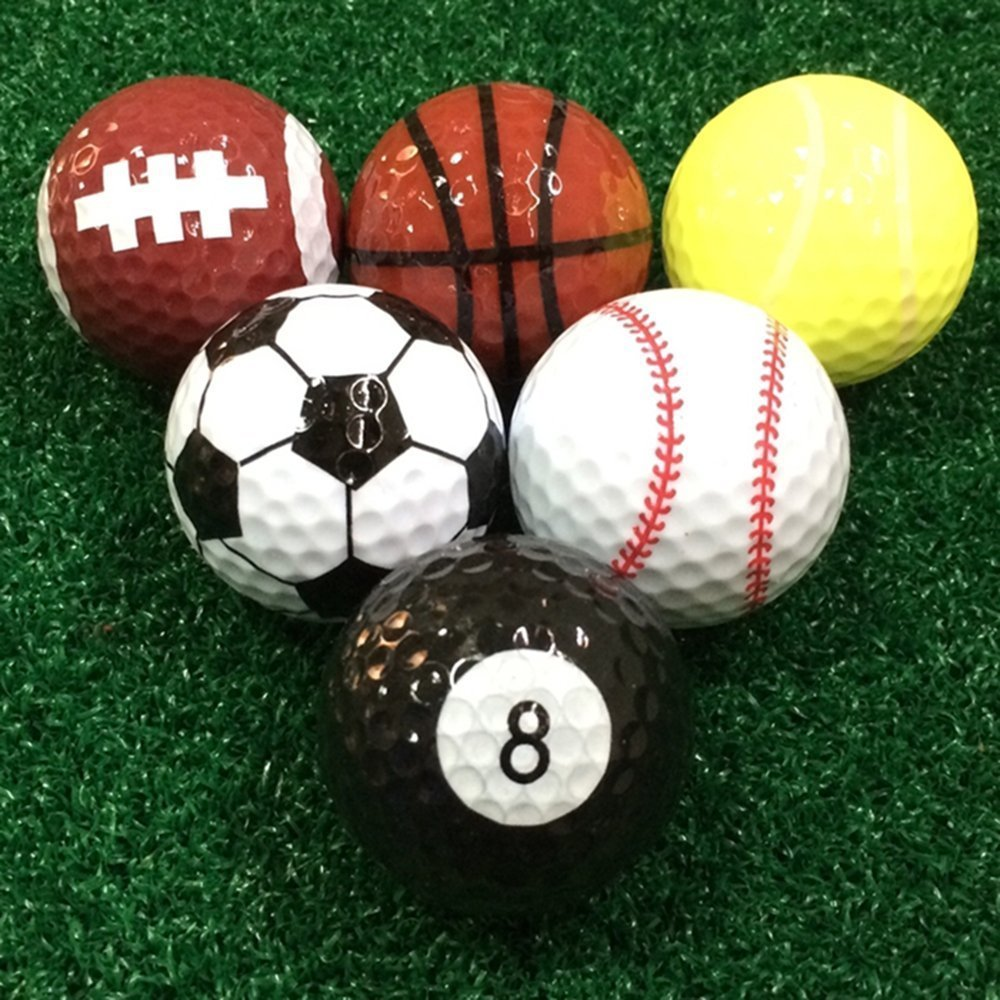 Buy 6 Pcs Golf Balls Basketballfootball Basketball Football Soccer Tennis Basketballfootballvolleyballtennisbaseball8 Ball Double Layer Sports Practice Gift From