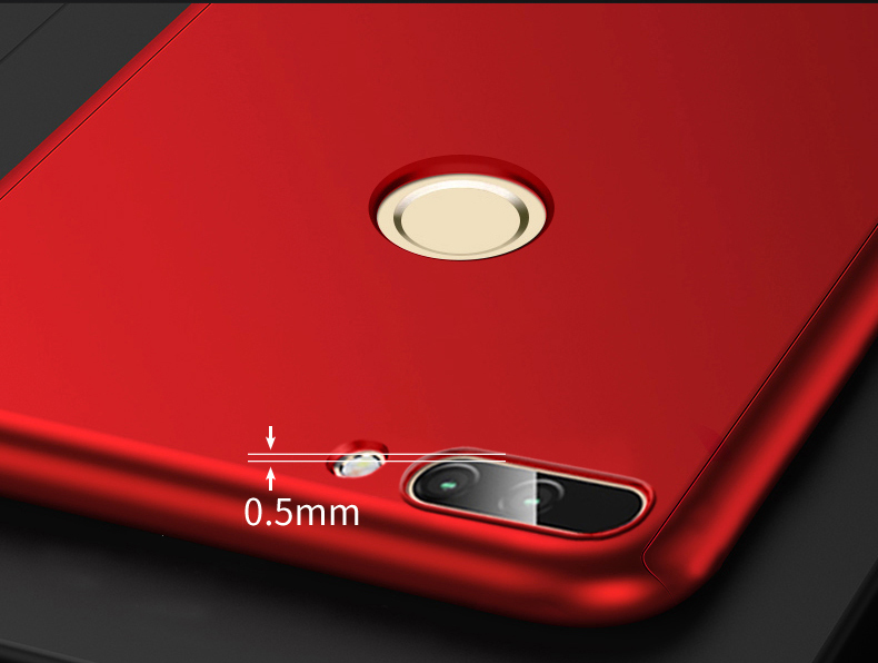 360 Full Protection Case For Huawei Honor 7a Pro Cover For Honor7a 7 A 8X Nova 3i 3 p smart 2019 Phone Case With Tempered Glass in Fitted Cases from Cellphones Telecommunications