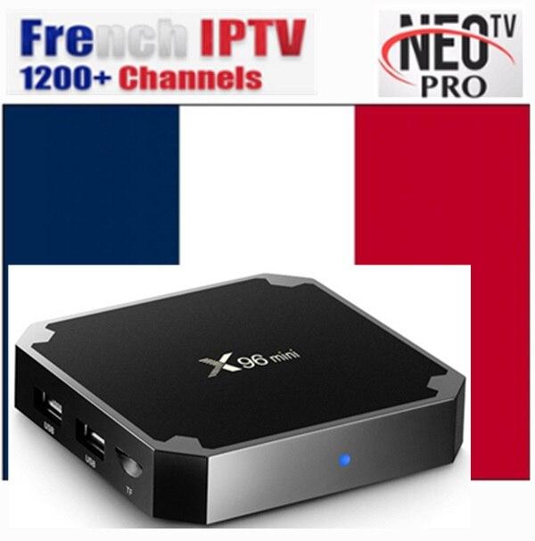 Codice X96 Android 7.1 box con Neotv IPTV annuale X96 mini 4 k TV Box con 4800 + STATI UNITI REGNO UNITO HDMI 2.0 x96mini VOD IPTV DAL VIVO Smart tv