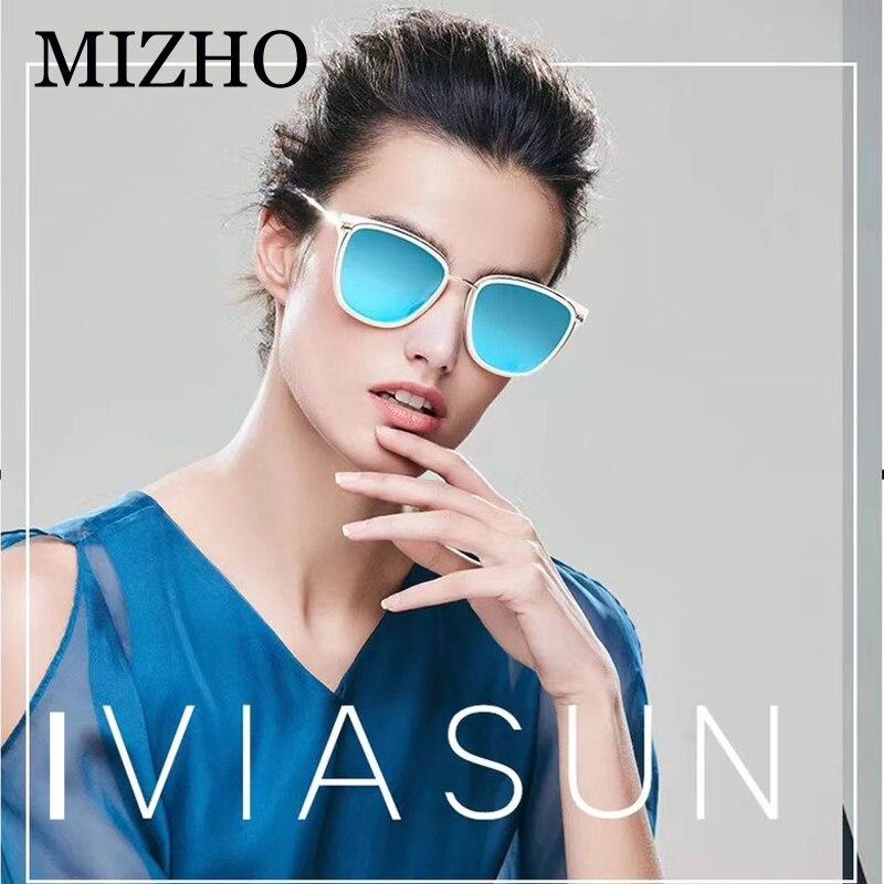 MIZHO Retro Brand Women Colored Sunglasses Polarized Mirror Vintage Eyewear Accessories Balck Men 39 s Sun Glasses Clear For Mujer in Women 39 s Sunglasses from Apparel Accessories