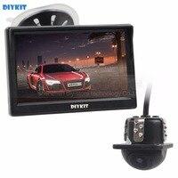 DIYKIT Wired 5 Inch HD LCD Display Rear View Monitor Car Monitor Mini Car Cam Rear