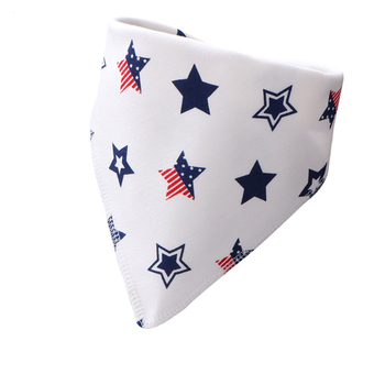 Cotton Baby Bibs Bandana Baberos Bebe Girls Boys Bib Baby Feeding Smock Double-layer Buckle Eating Burp Cloths Baby Things 1