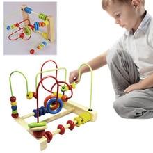 Nuevo Aprendizaje Mover Cuentas de Madera Redonda Kawaii Juguete de Desarrollo Juguete De Juegos para Niños Juguetes Para Niños Pasatiempos M09